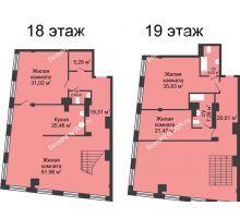 4 комнатная квартира 287,88 м², ЖК Гранд Панорама - планировка