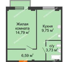 1 комнатная квартира 35,38 м² в ЖК Лайм, дом № 1