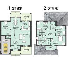 """5 комнатная квартира 225,1 м² в КП Вишневый сад, дом Усадьба """"Аристократ"""" - планировка"""