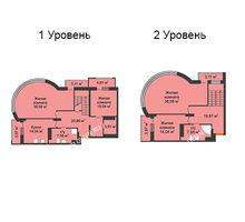 4 комнатная квартира 188,5 м², ЖК Командор - планировка