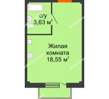 Студия 22,7 м² в ЖК Лайм, дом № 1 - планировка