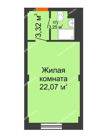Студия 28,64 м² - Апарт-Отель Гордеевка