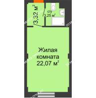 Апартаменты-студия 28,64 м², Апарт-Отель Гордеевка - планировка