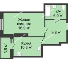 1 комнатная квартира 47 м² в ЖК Звездный, дом № 5
