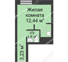 Студия 17,27 м² - ЖК Университетский