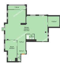 1 комнатная квартира 188,6 м² в ЖК Renaissance (Ренессанс), дом № 1 - планировка