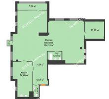 1 комнатная квартира 192,38 м² в ЖК Ренессанс, дом № 1 - планировка