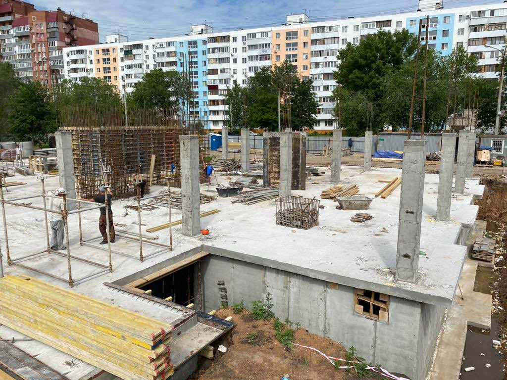 В Кировском районе Самары продолжается строительство детского сада
