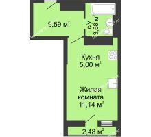 Студия 31,89 м² в ЖК Военвед-Сити, дом № 2 - планировка