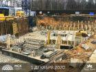 Ход строительства дома Литер 1 в ЖК Грин Парк - фото 12, Декабрь 2020