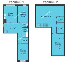 3 комнатная квартира 158,5 м², Клубный дом Green Вита (Грин Вита) - планировка