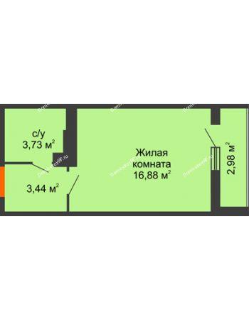 Студия 25,59 м² в ЖК Семейный парк, дом Литер 2