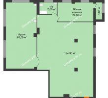 1 комнатная квартира 220,1 м², ЖК ROLE CLEF - планировка