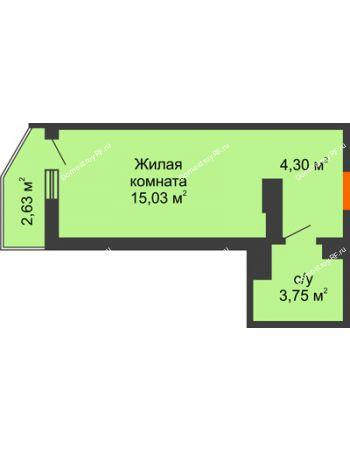 Студия 23,86 м² в ЖК Семейный парк, дом Литер 2