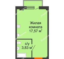 Студия 21,92 м² в ЖК Лайм, дом № 1 - планировка
