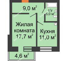 3 комнатная квартира 78,5 м², Жилой дом по ул. Львовская, 33а - планировка