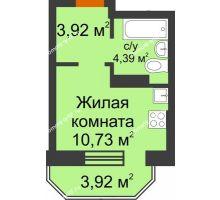 Студия 20,22 м² в ЖК Светлоград, дом Литер 15 - планировка